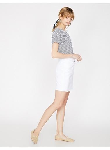 Koton Mini Etek Beyaz